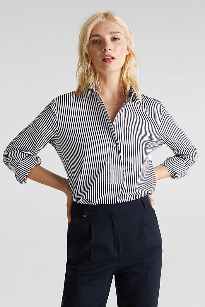 Gestreepte blouse zonder sluiting met stretch, OFF WHITE, detail image number 0