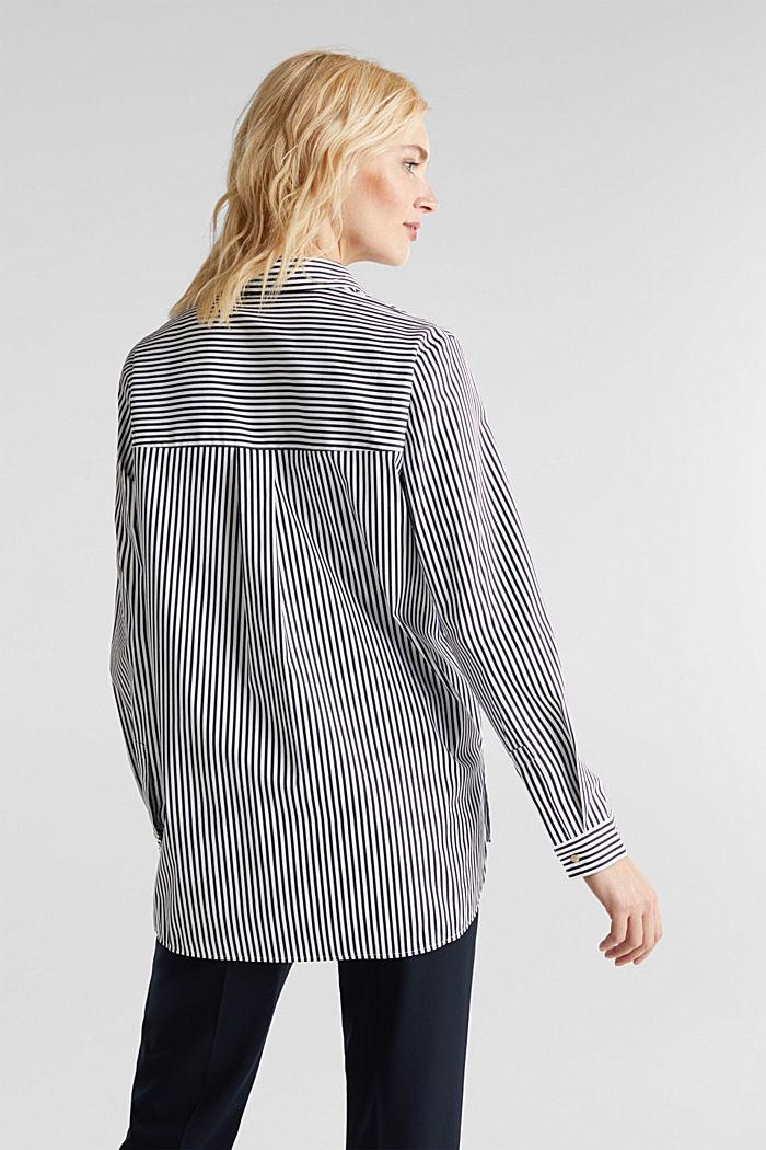 Gestreepte blouse zonder sluiting met stretch, OFF WHITE, detail image number 3
