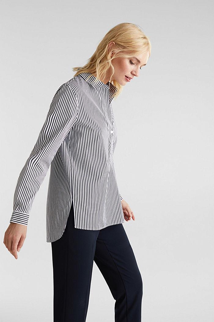 Gestreepte blouse zonder sluiting met stretch, OFF WHITE, detail image number 5