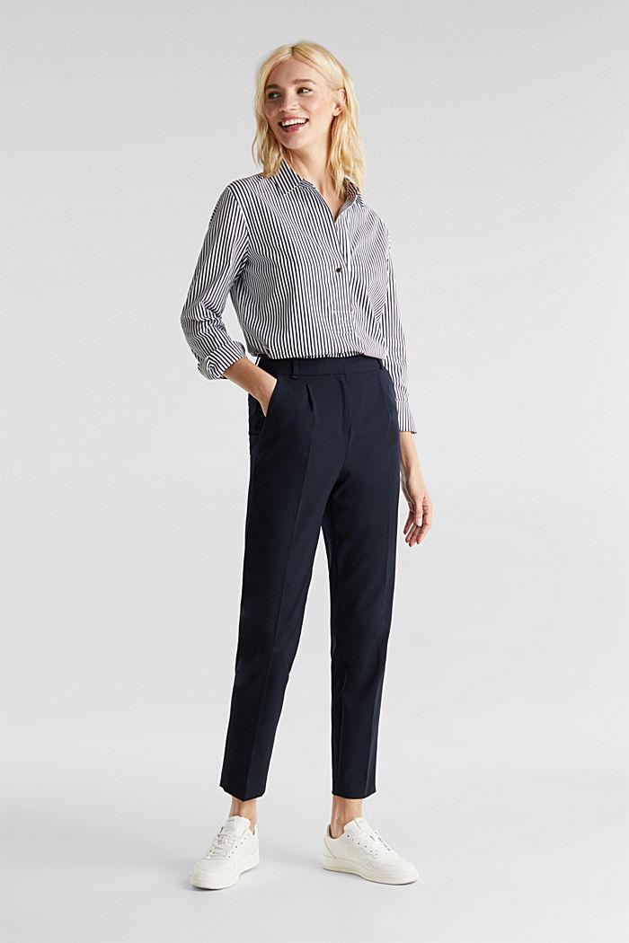 Gestreepte blouse zonder sluiting met stretch, OFF WHITE, detail image number 1