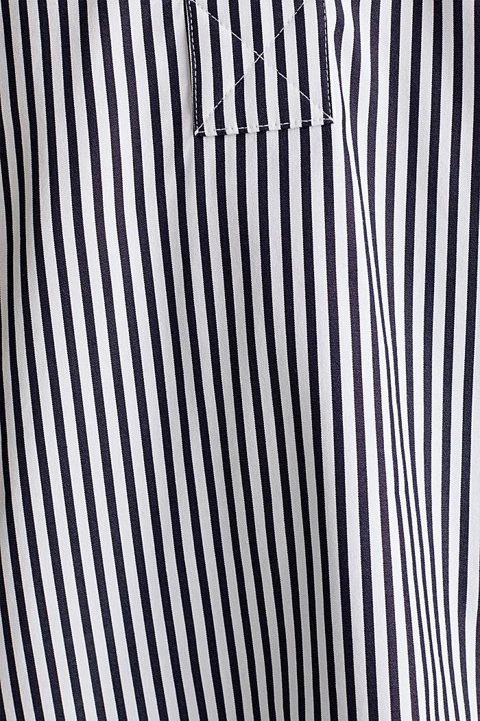 Gestreepte blouse zonder sluiting met stretch, OFF WHITE, detail image number 4