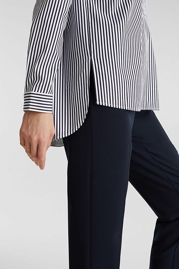 Gestreepte blouse zonder sluiting met stretch, OFF WHITE, detail image number 6