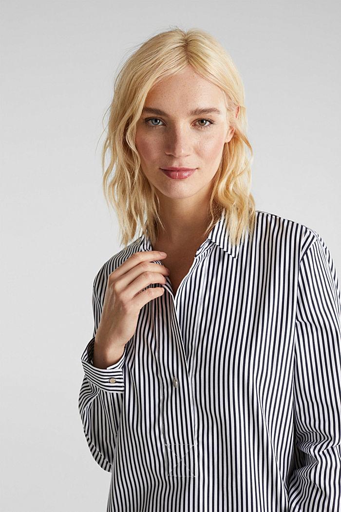 Gestreepte blouse zonder sluiting met stretch, OFF WHITE, detail image number 7