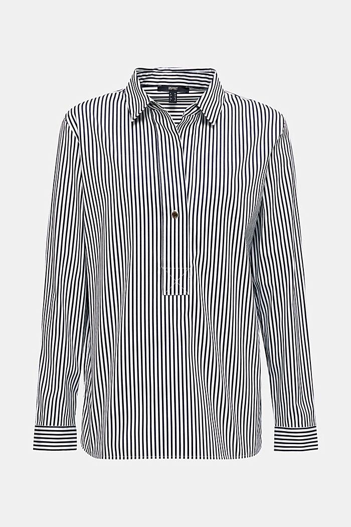 Gestreepte blouse zonder sluiting met stretch, OFF WHITE, detail image number 8
