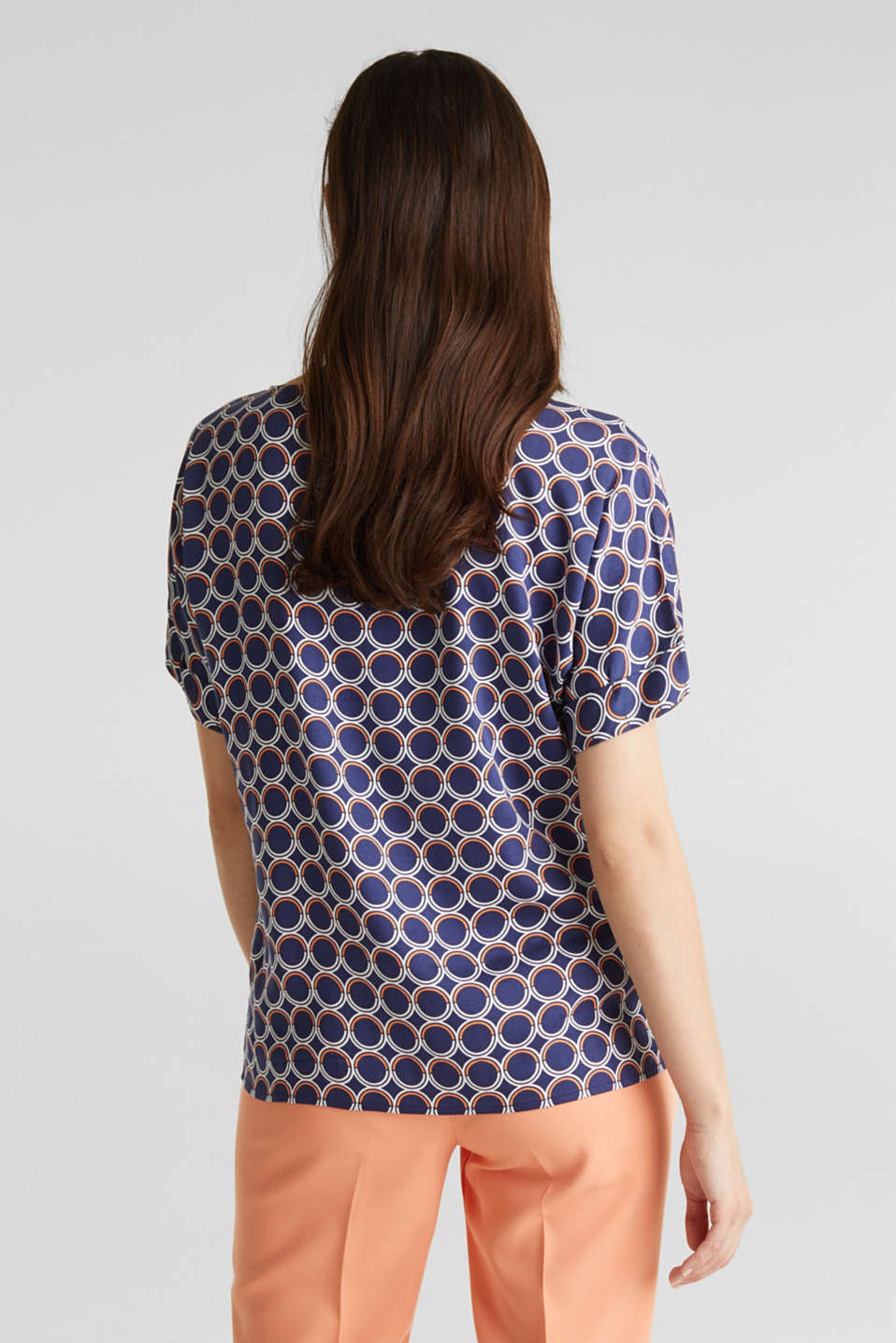 Blouse top with a graphic print, NAVY 3, detail image number 3