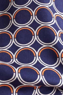 Blouse top with a graphic print, NAVY 3, detail