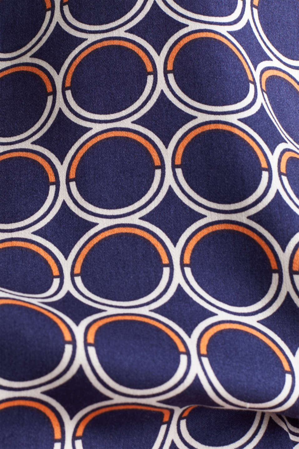 Blouse top with a graphic print, NAVY 3, detail image number 4