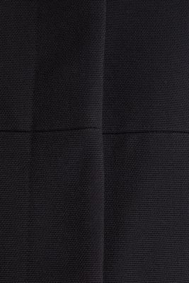 Coat with piqué texture, BLACK, detail
