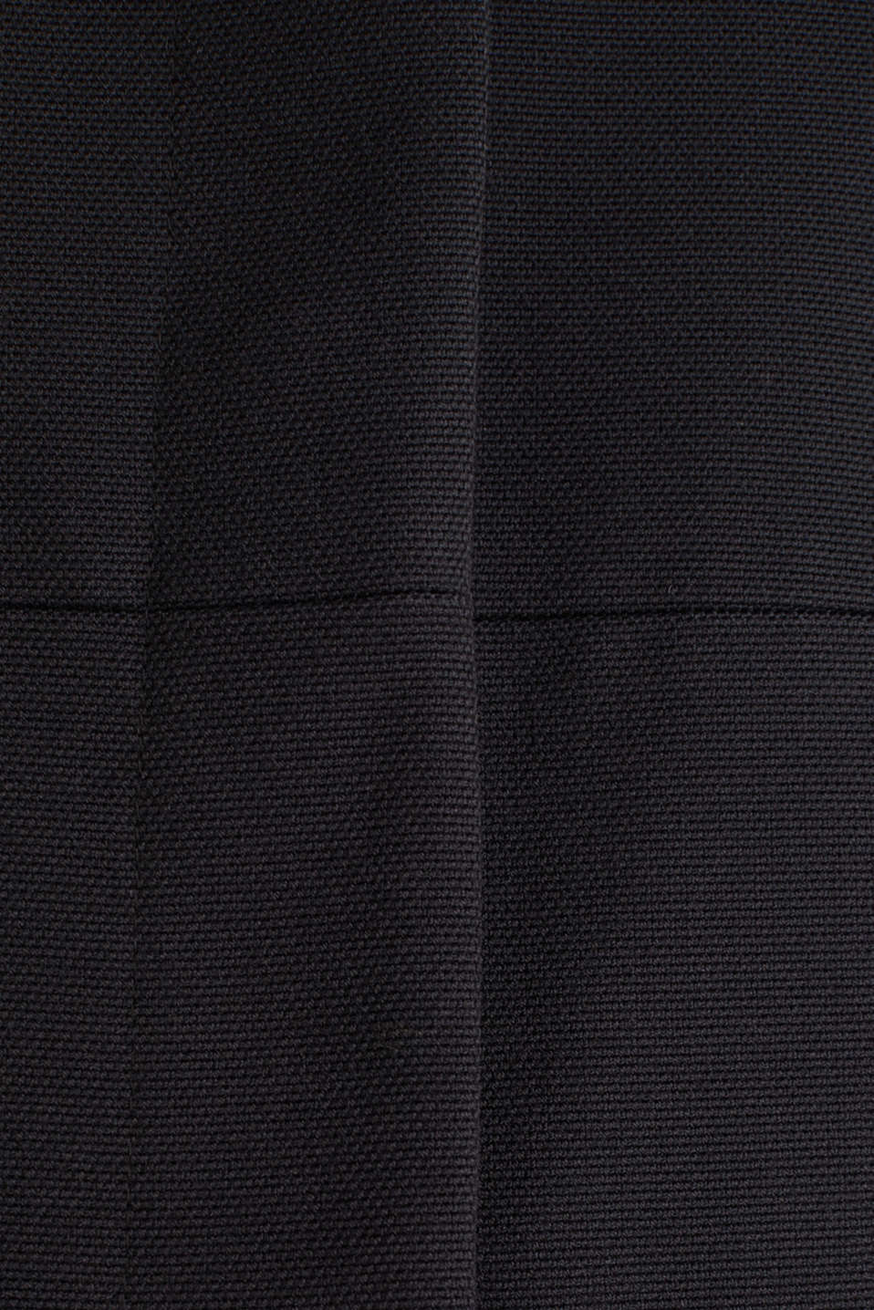 Coat with piqué texture, BLACK, detail image number 3