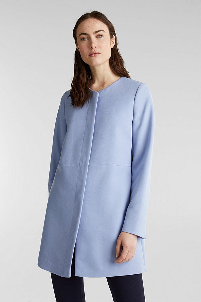 Coat with piqué texture, BLUE LAVENDER, detail image number 0
