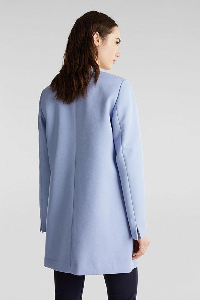 Coat with piqué texture, BLUE LAVENDER, detail image number 3