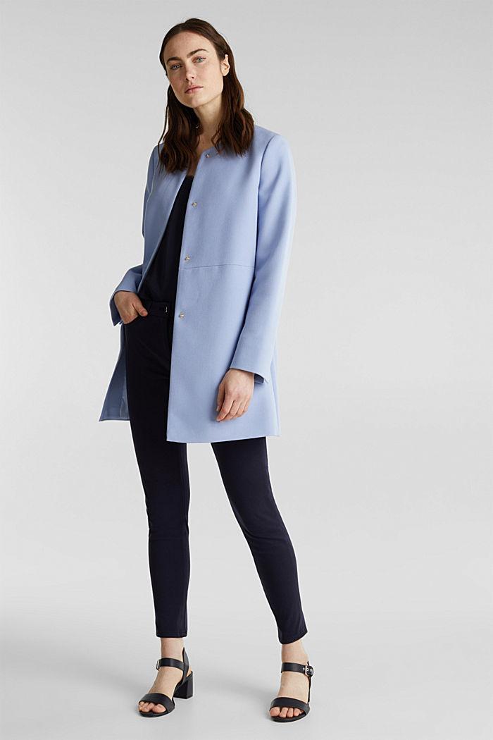 Coat with piqué texture, BLUE LAVENDER, detail image number 1