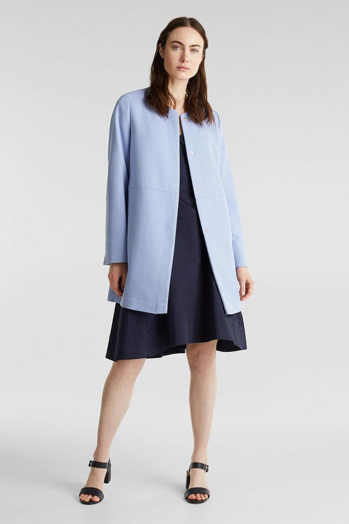 Coat with piqué texture, BLUE LAVENDER, detail image number 7