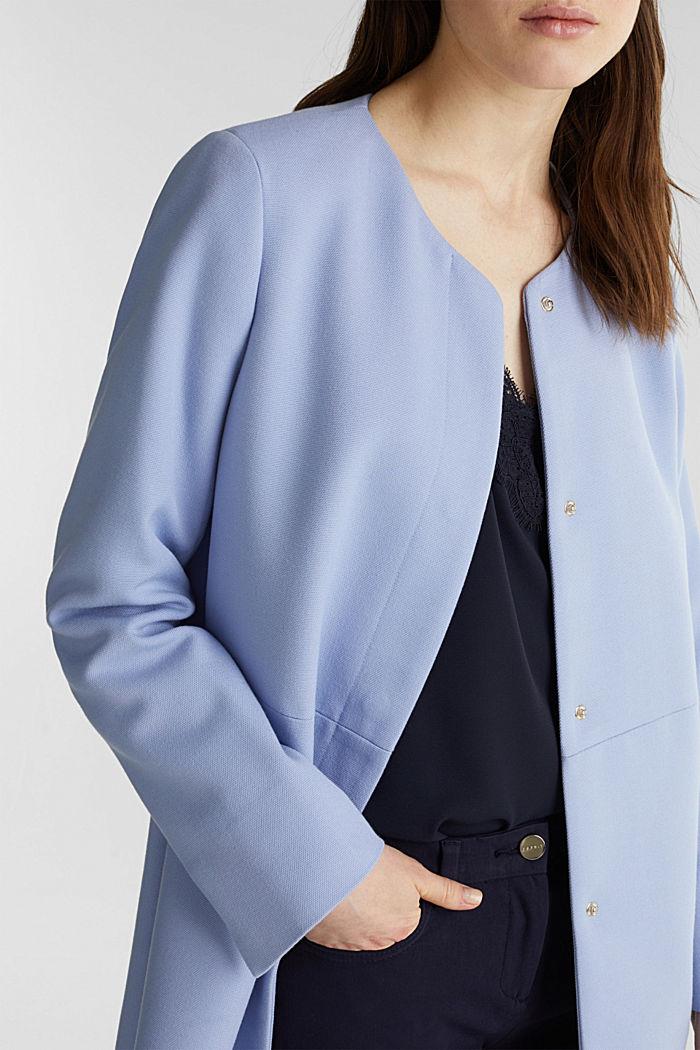 Coat with piqué texture, BLUE LAVENDER, detail image number 2