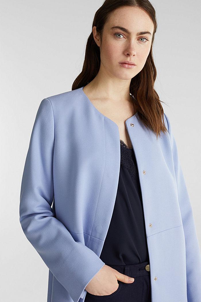 Coat with piqué texture, BLUE LAVENDER, detail image number 6
