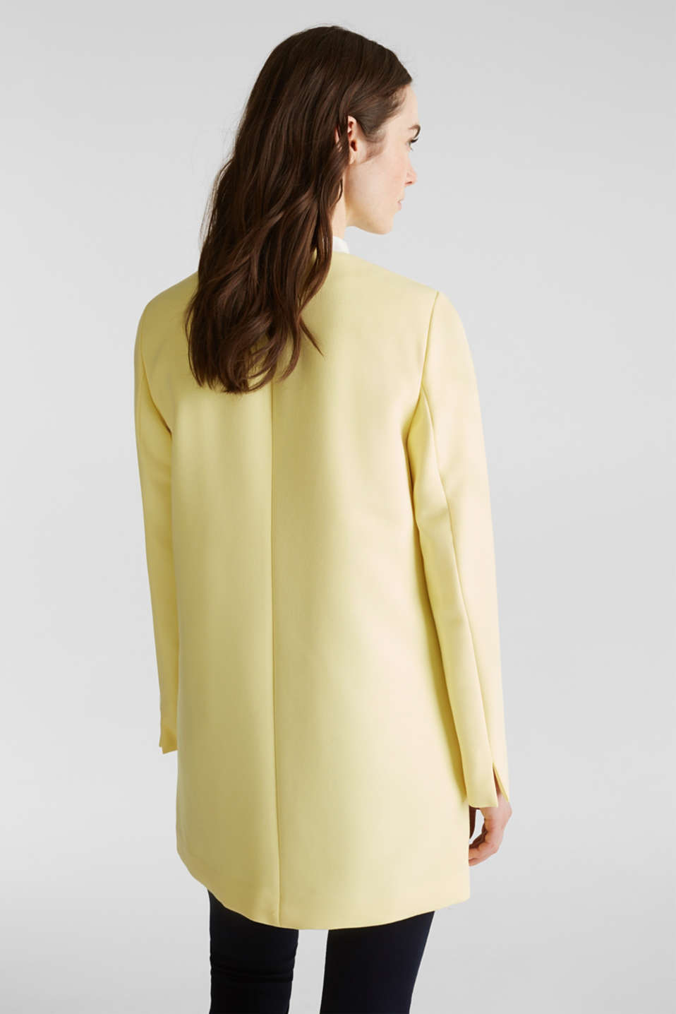 Coat with piqué texture, LIME YELLOW, detail image number 3