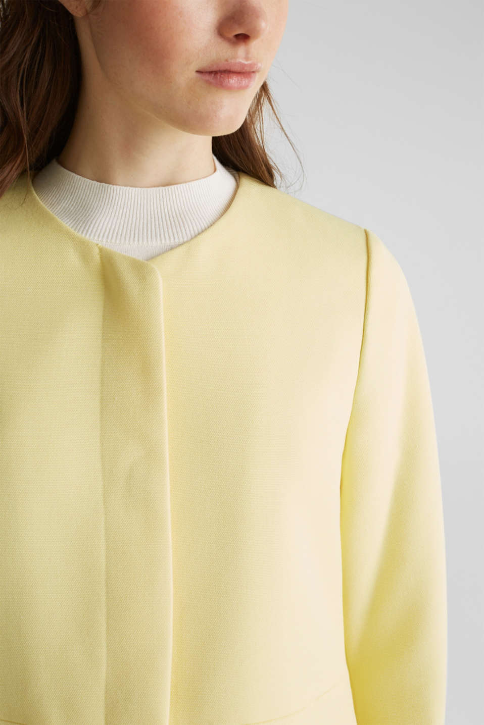 Coat with piqué texture, LIME YELLOW, detail image number 5