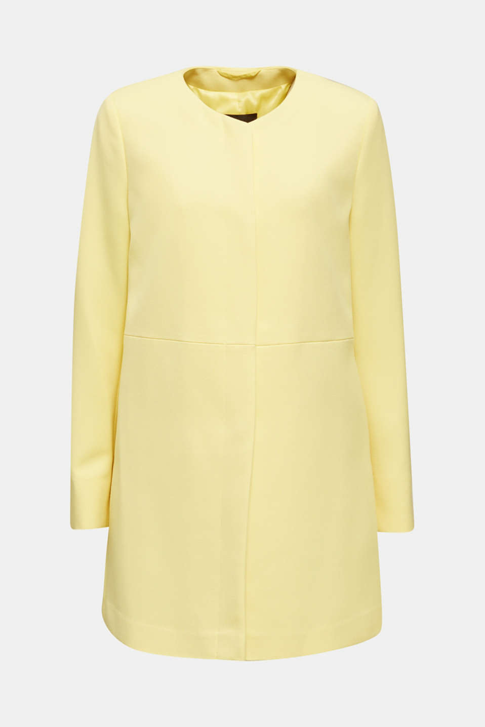 Coat with piqué texture, LIME YELLOW, detail image number 6