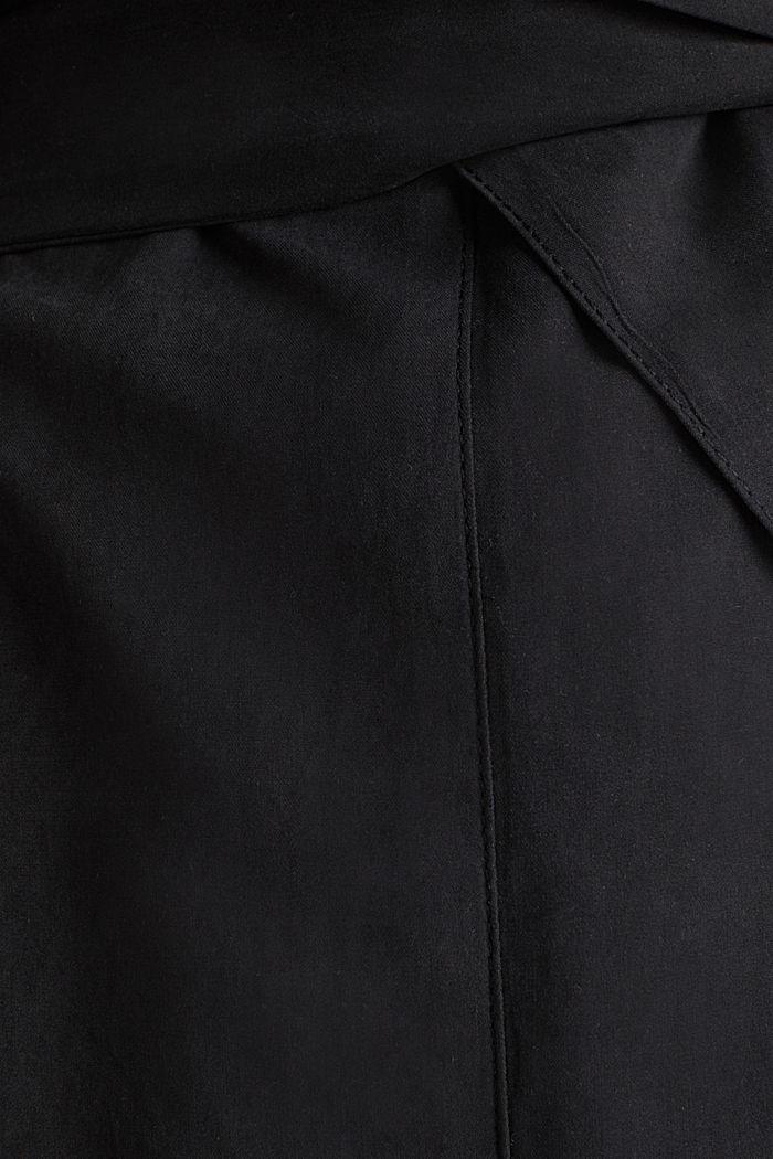 Mantel met sjaalkraag en perzikzachte touch, BLACK, detail image number 4
