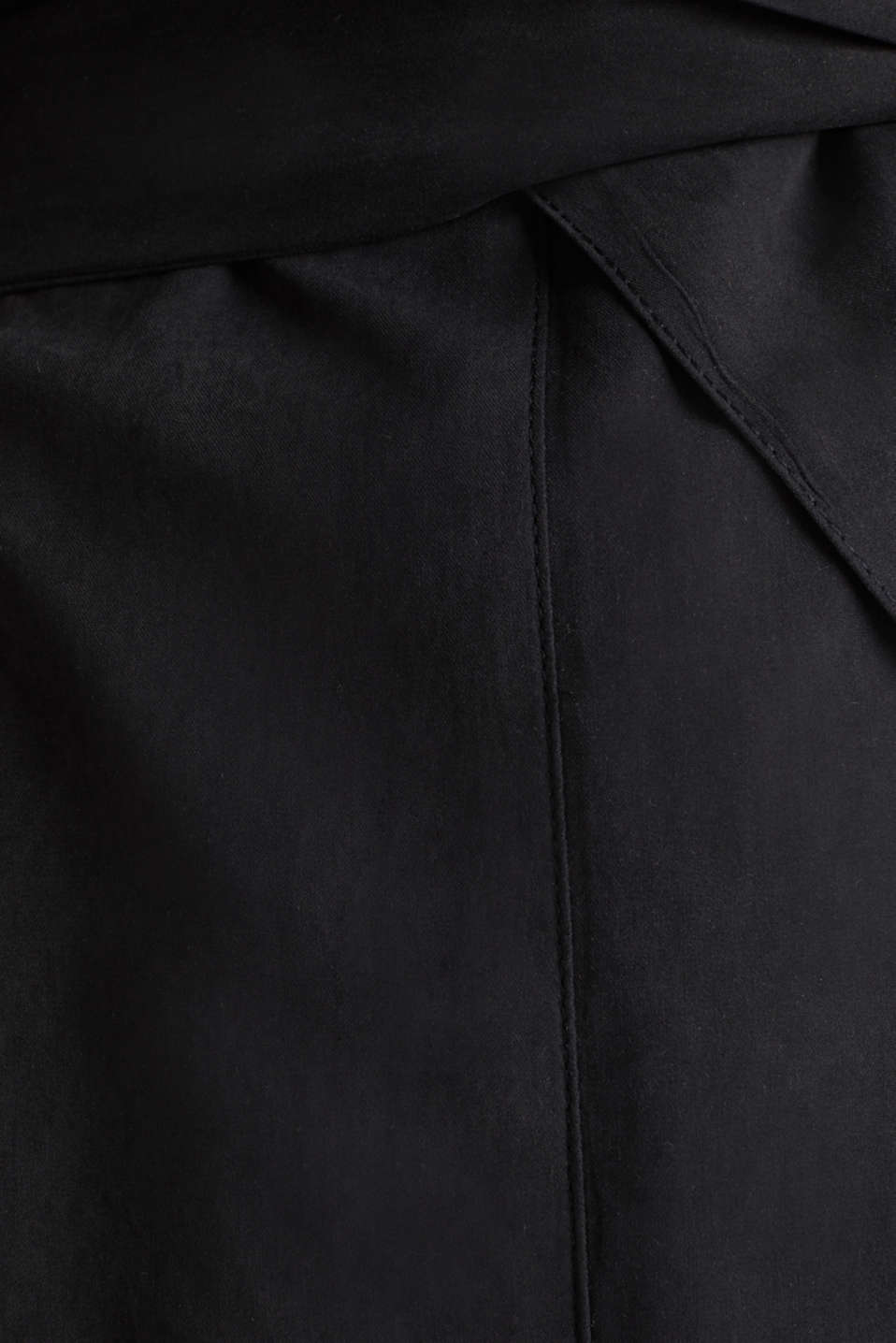 Coat with shawl collar and peached texture, BLACK, detail image number 4