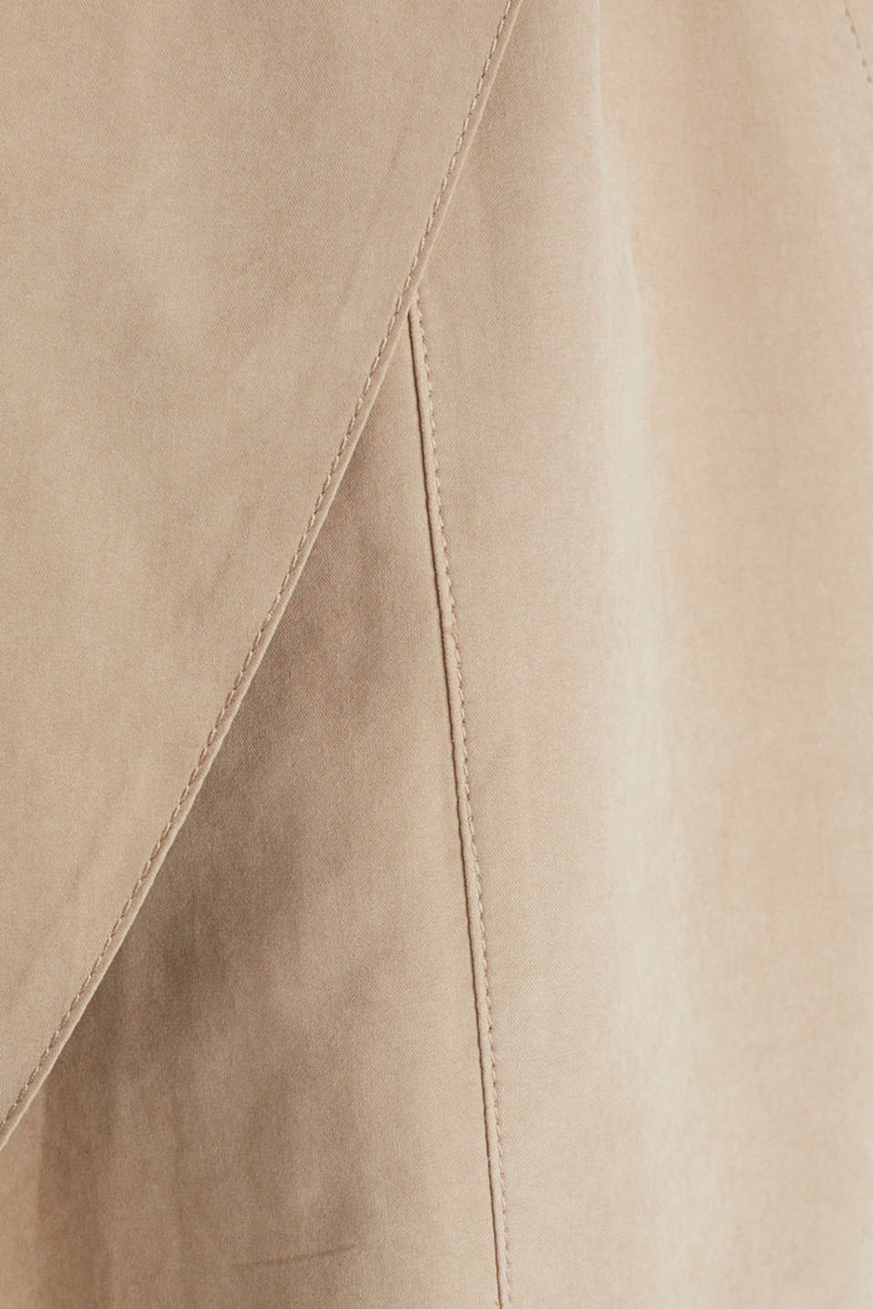 Coat with shawl collar and peached texture, BEIGE, detail image number 4