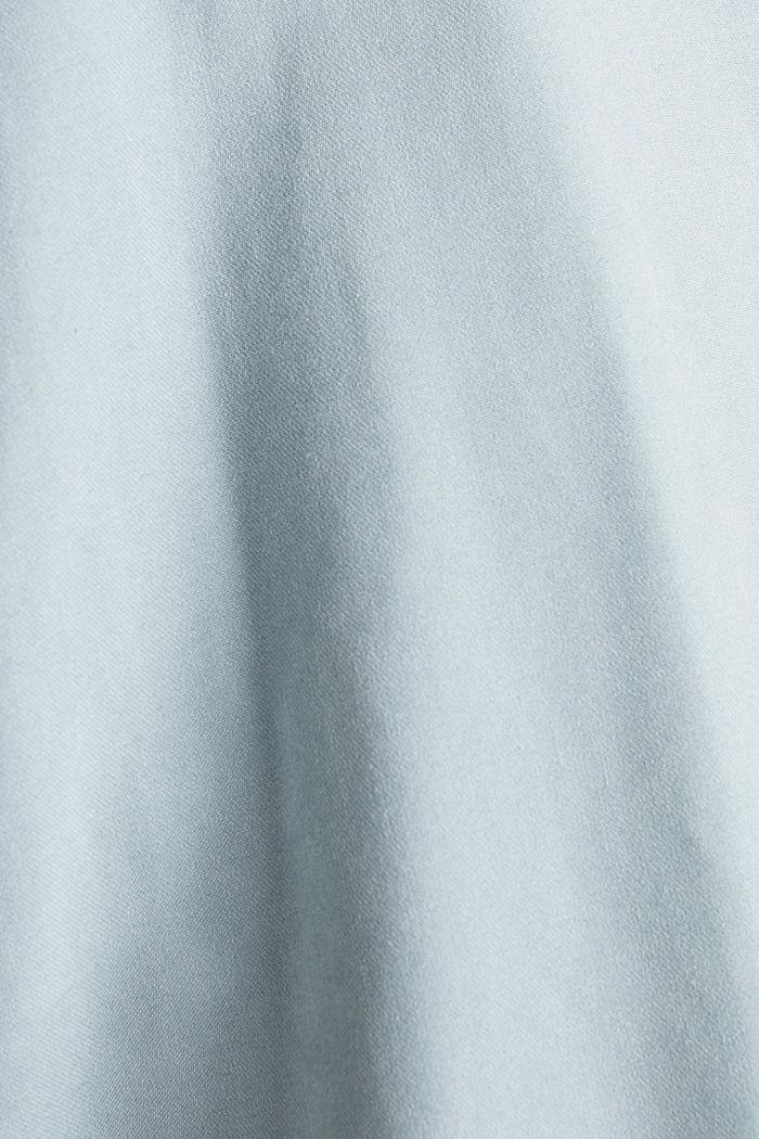 Schalkragen-Mantel mit Peach-Touch, GREY BLUE, detail image number 4