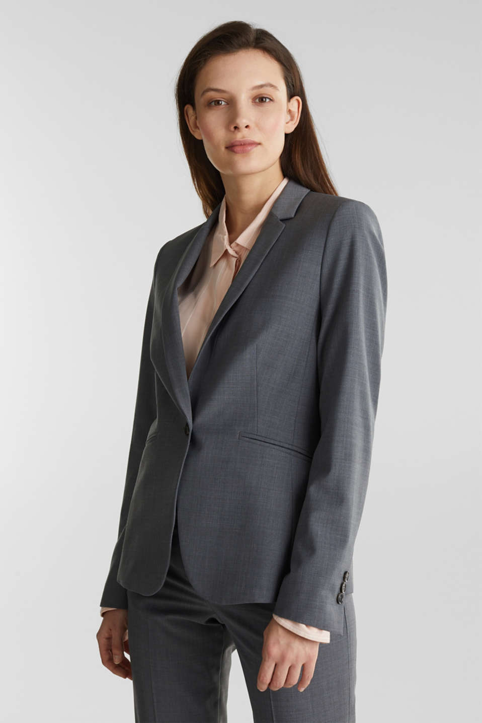 Esprit - With wool: ACTIVE mix + match stretch blazer