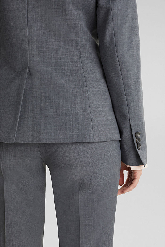 With wool: ACTIVE mix + match stretch blazer, GREY, detail image number 5