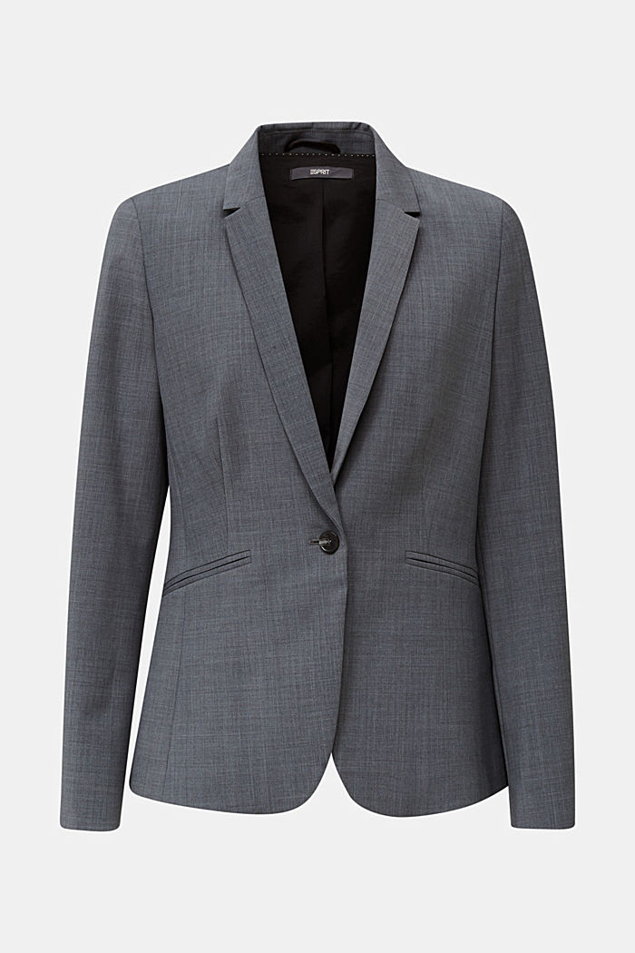 With wool: ACTIVE mix + match stretch blazer, GREY, detail image number 7