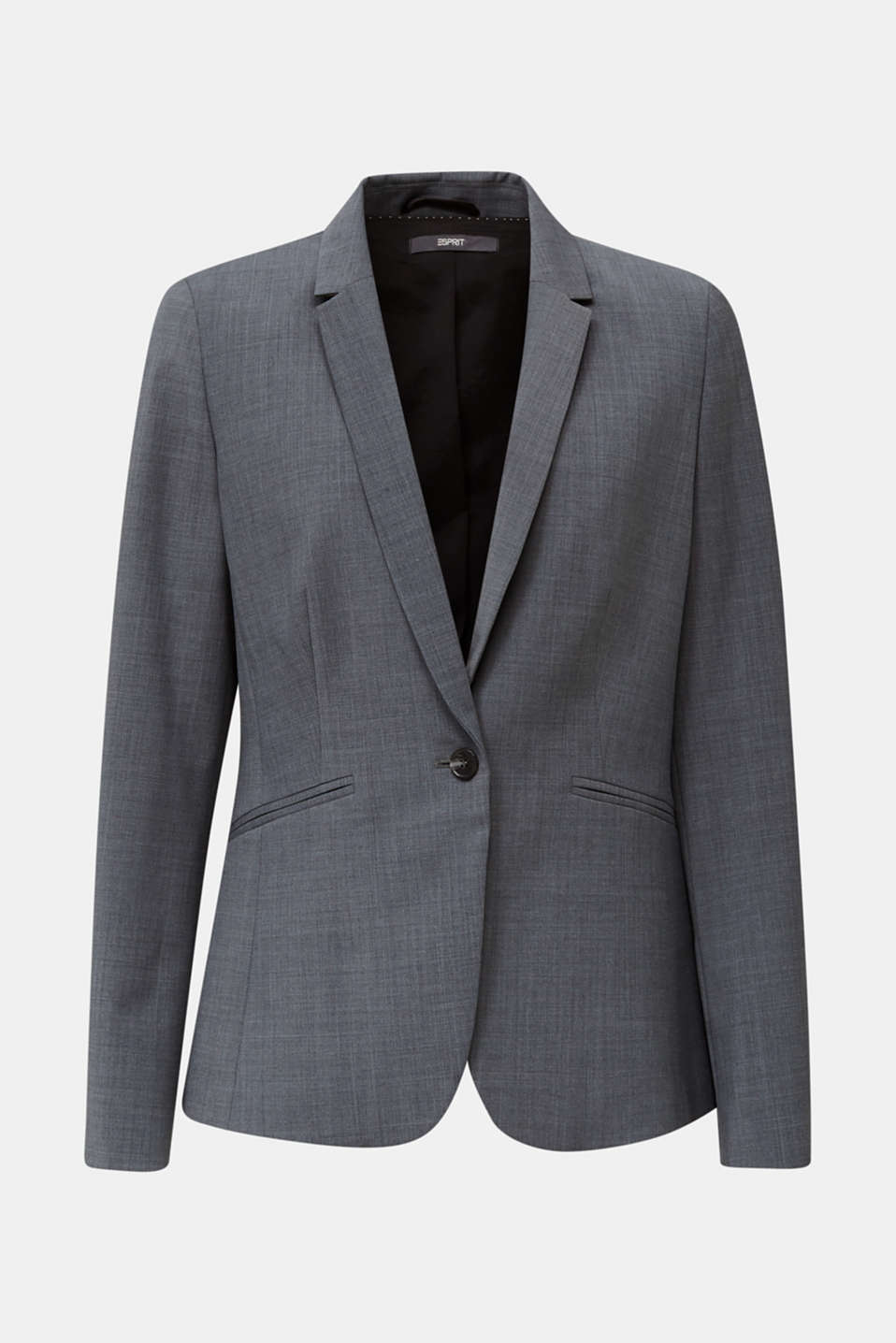 With wool: ACTIVE mix + match stretch blazer, GREY 5, detail image number 7
