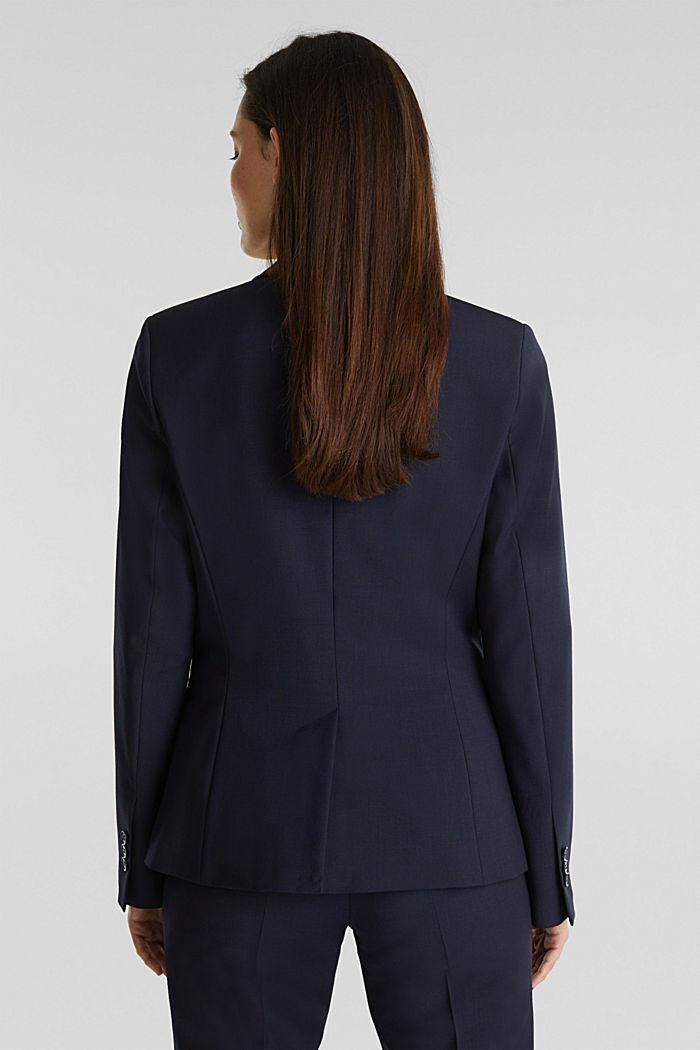 Mit Wolle: ACTIVE Mix + Match Stretch-Blazer, NAVY, detail image number 3