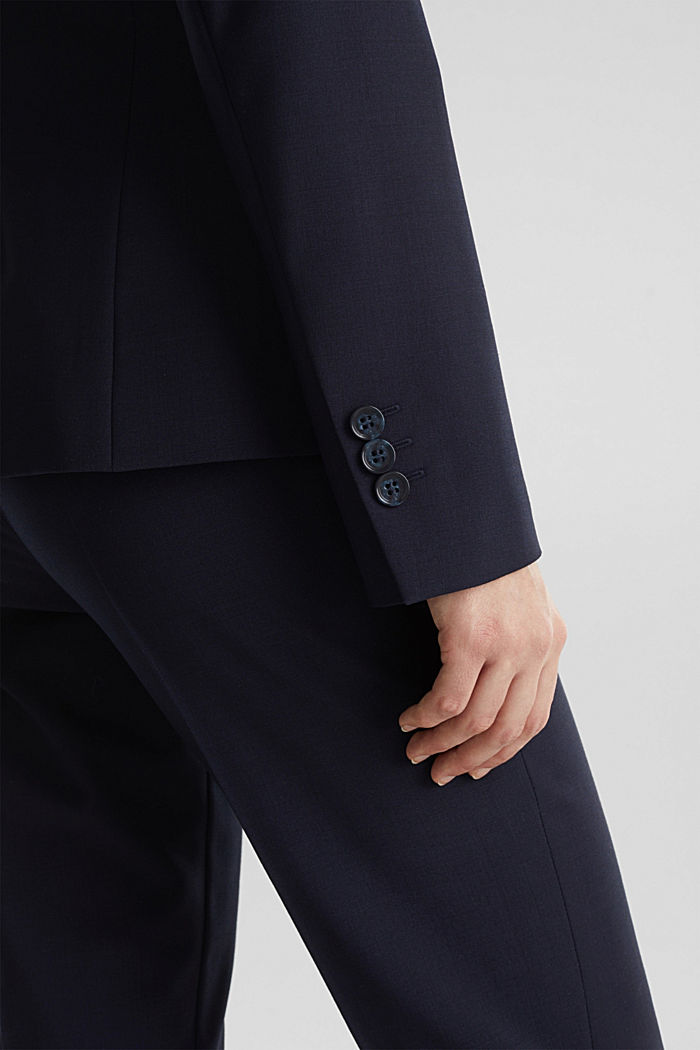 Con lana: ACTIVE Mix + Match Blazer elasticizzato, NAVY, detail image number 5