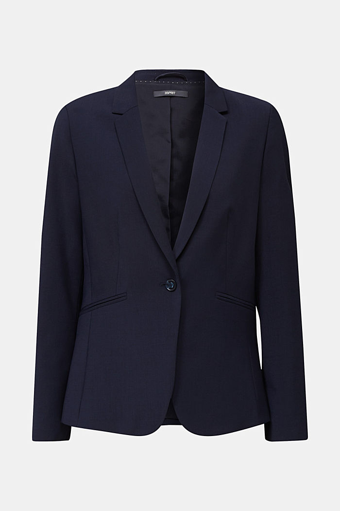Con lana: ACTIVE Mix + Match Blazer elasticizzato, NAVY, detail image number 6