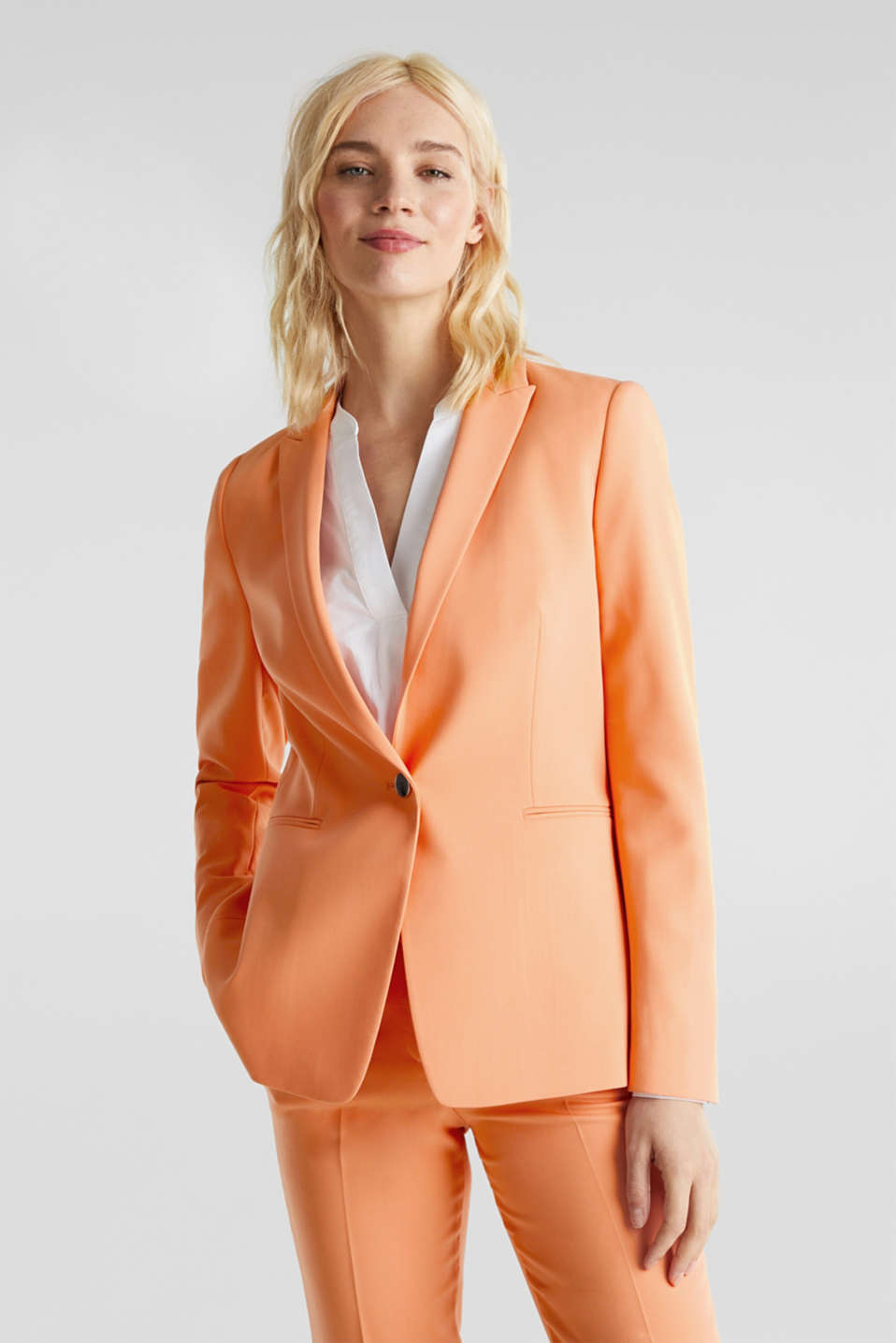Esprit - SPRING TWILL mix + match stretchblazer