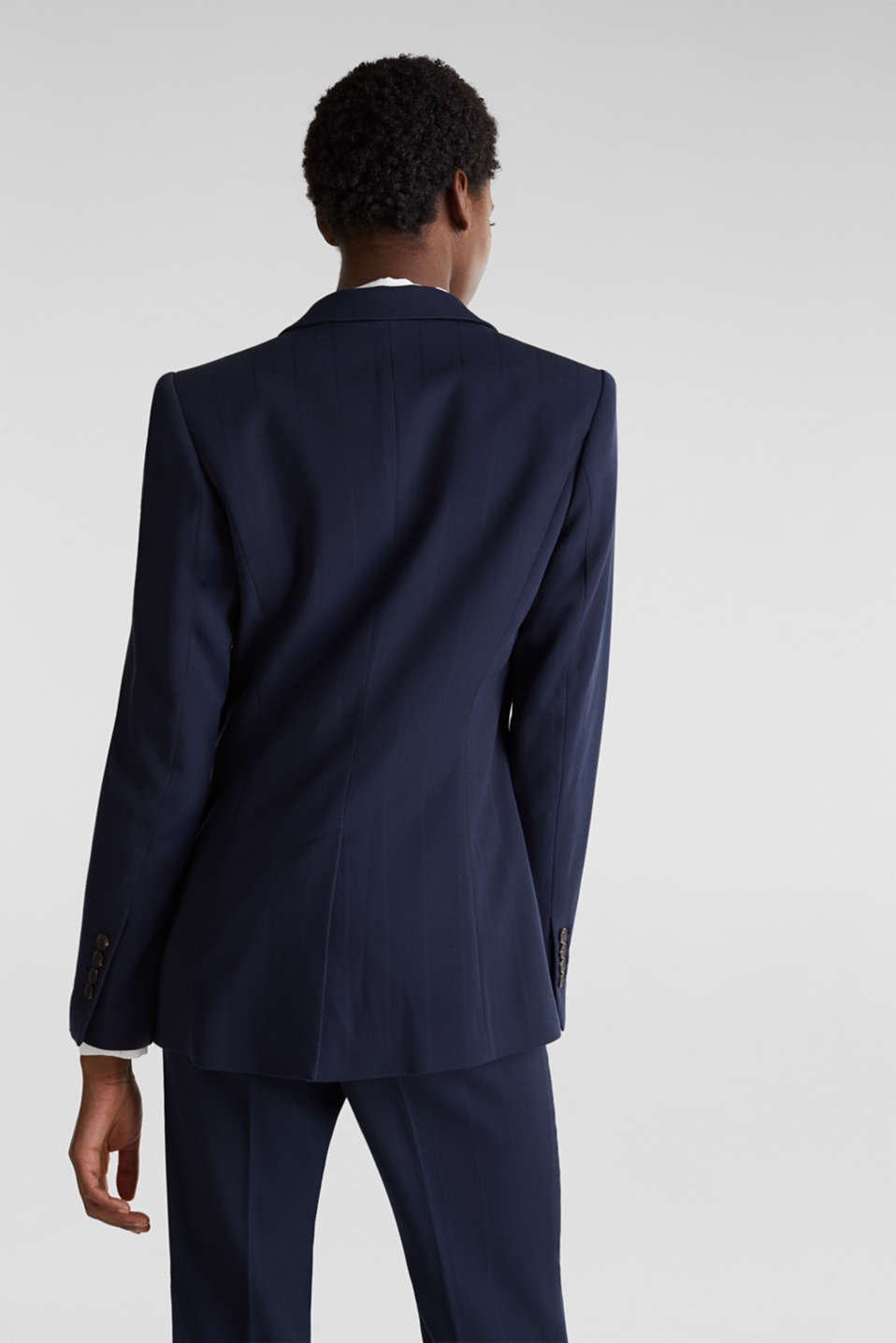 STRUCTURE STRIPES textured blazer, NAVY, detail image number 3
