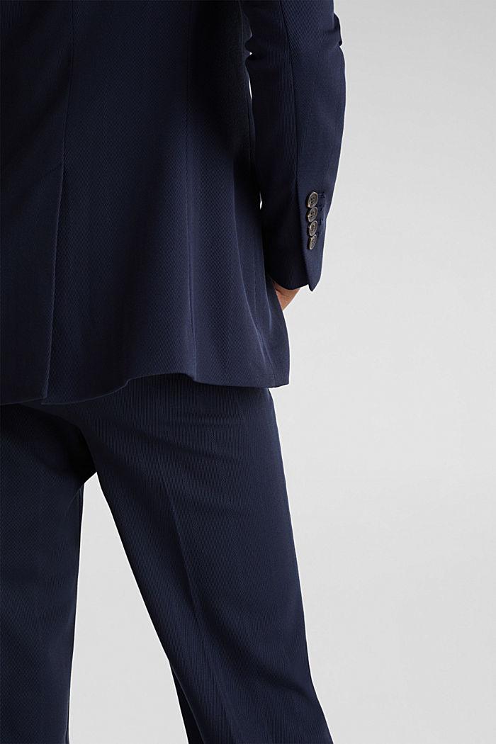 STRUCTURE STRIPES gestructureerde blazer, NAVY, detail image number 5