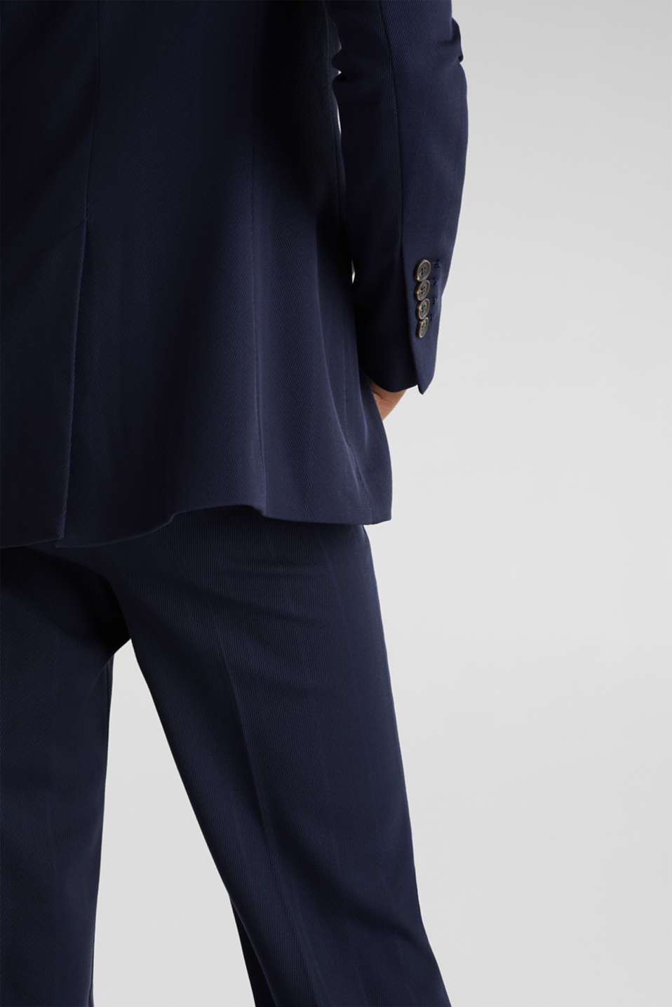 STRUCTURE STRIPES textured blazer, NAVY, detail image number 5