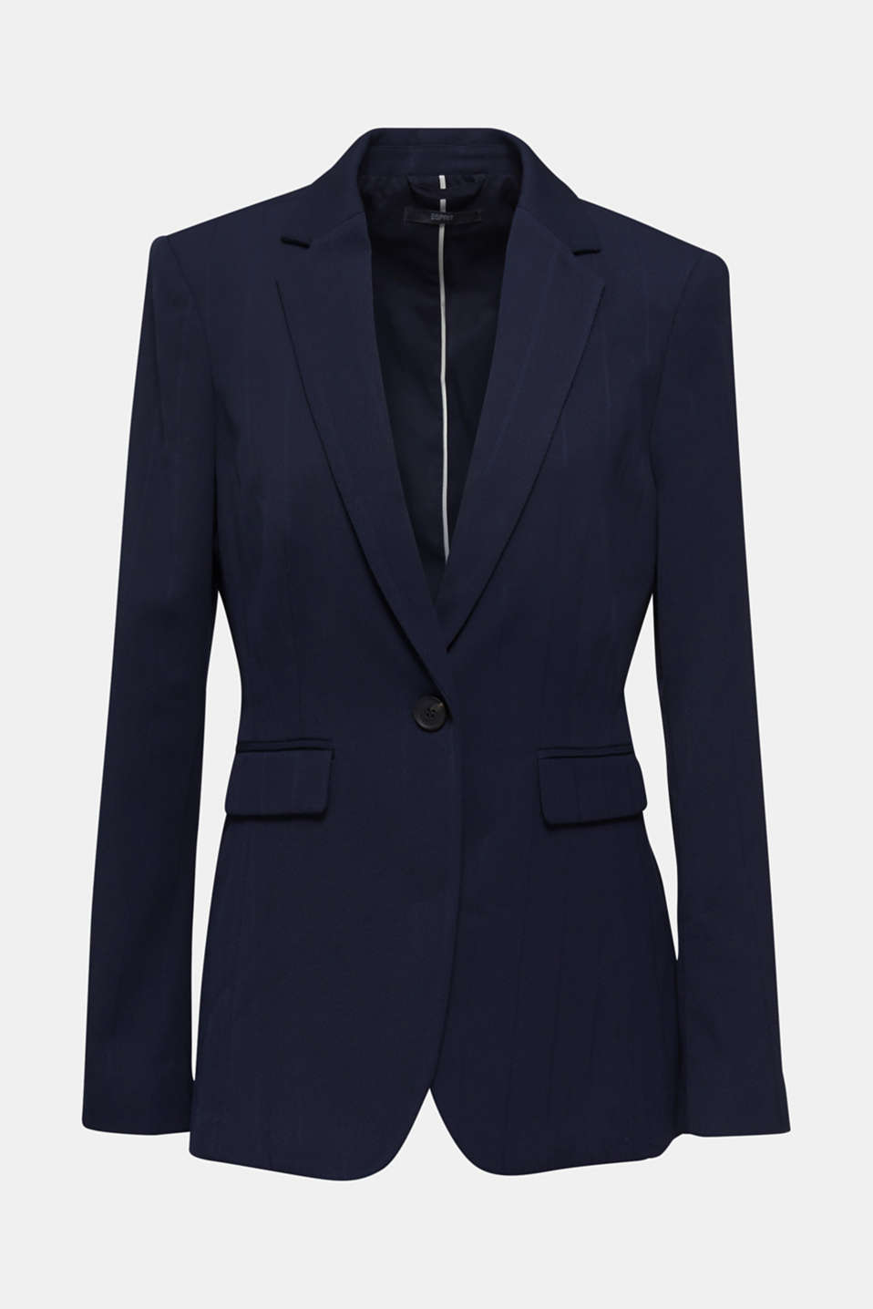 STRUCTURE STRIPES textured blazer, NAVY, detail image number 8