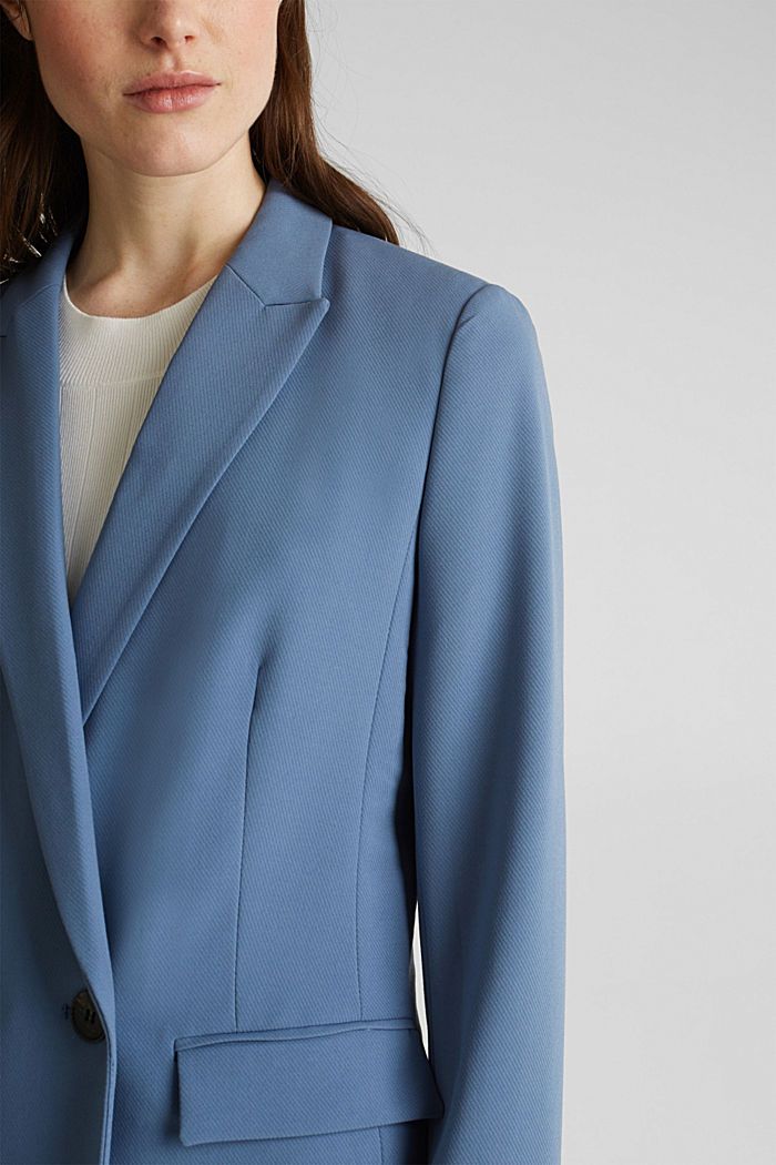 COLORED TWILL Mix + Match stretch blazer, GREY BLUE, detail image number 2