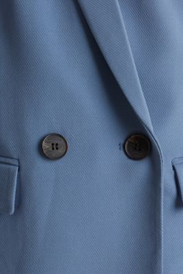 COLORED TWILL Mix + Match stretch blazer, GREY BLUE, detail