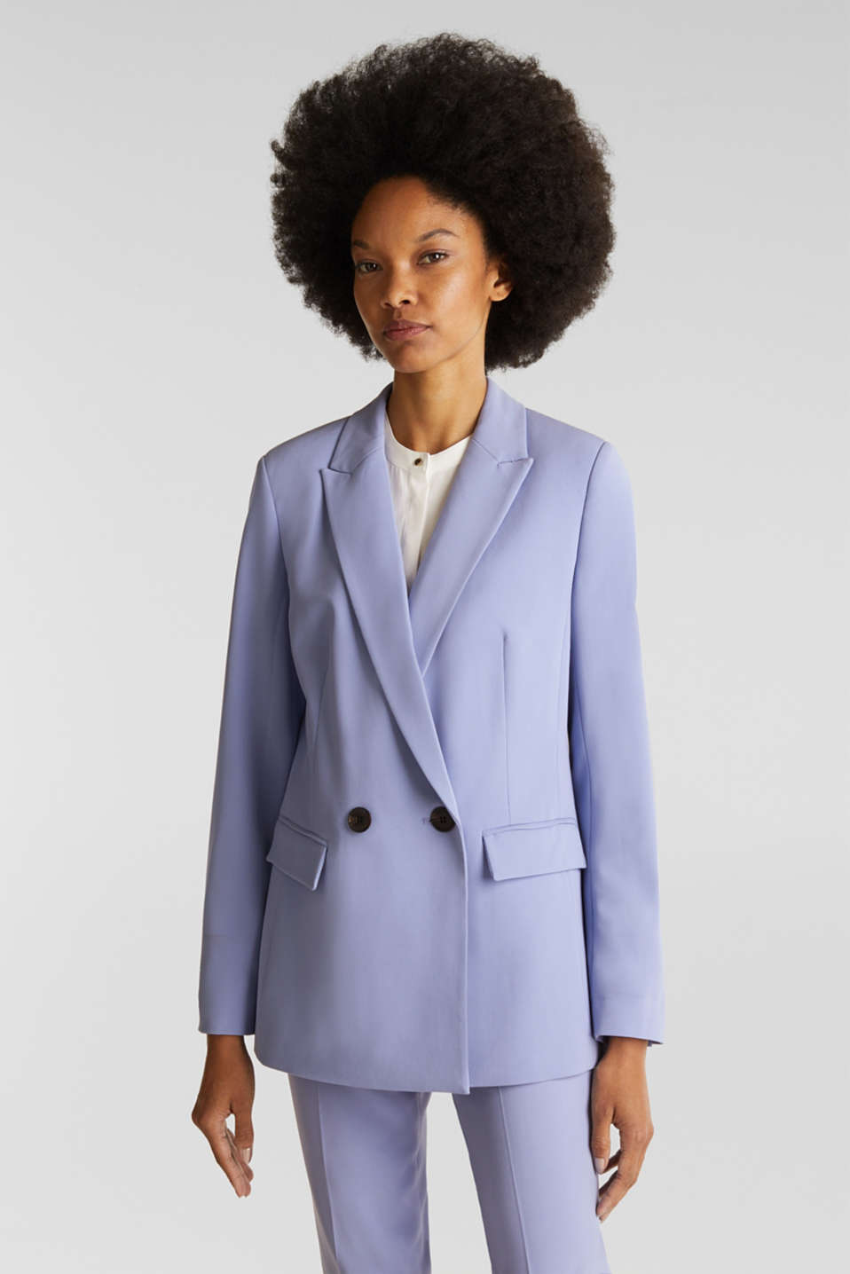 Esprit - Blazer stretch Mix + Match COLORED TWILL
