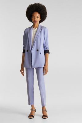 COLORED TWILL Mix + Match stretch blazer, BLUE LAVENDER, detail