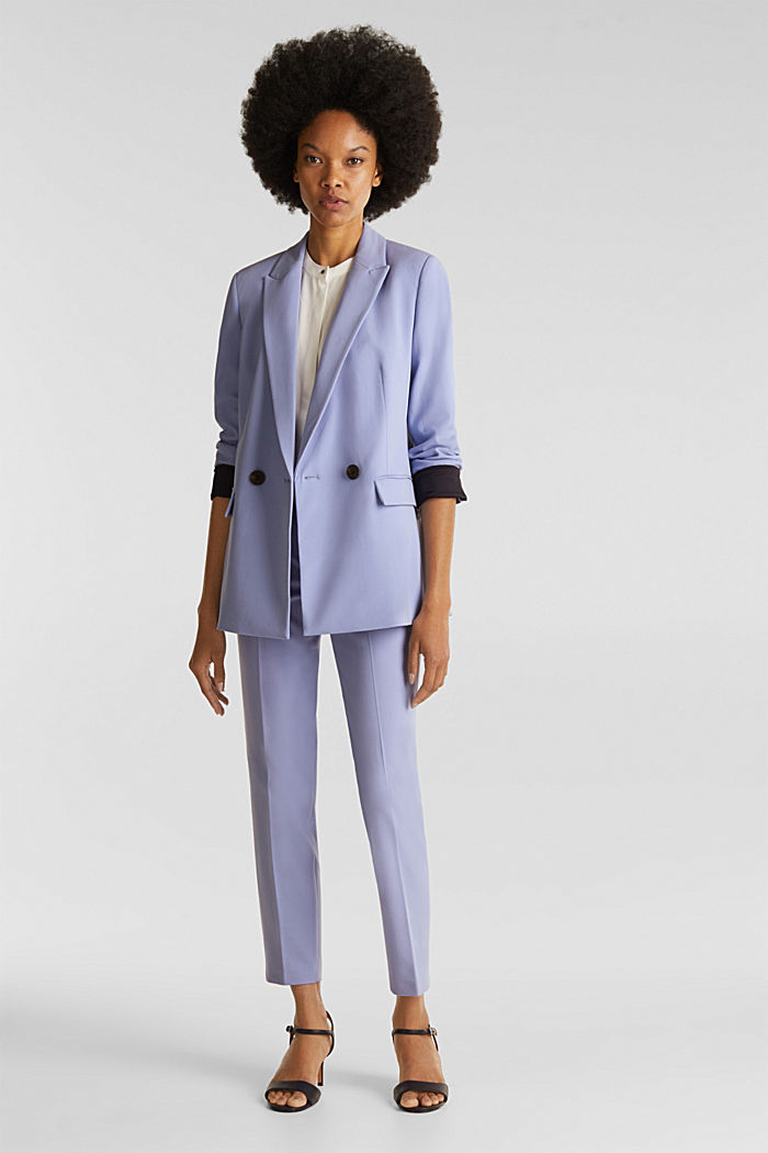 COLORED TWILL Mix + Match stretch blazer, BLUE LAVENDER, detail image number 1
