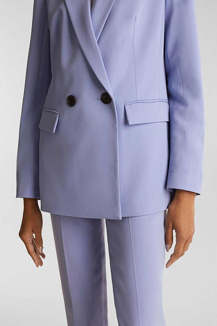COLORED TWILL Mix + Match stretch blazer, BLUE LAVENDER, detail image number 2