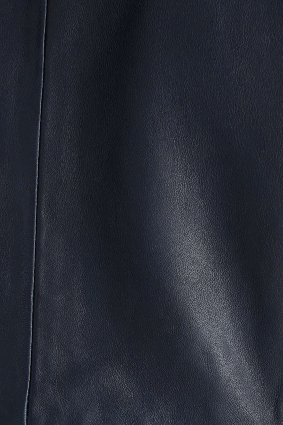 Feminine, fitted jacket made of leather, NAVY, detail image number 4