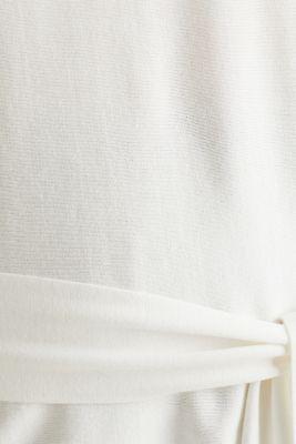 Jumper with tie-around belt, OFF WHITE, detail