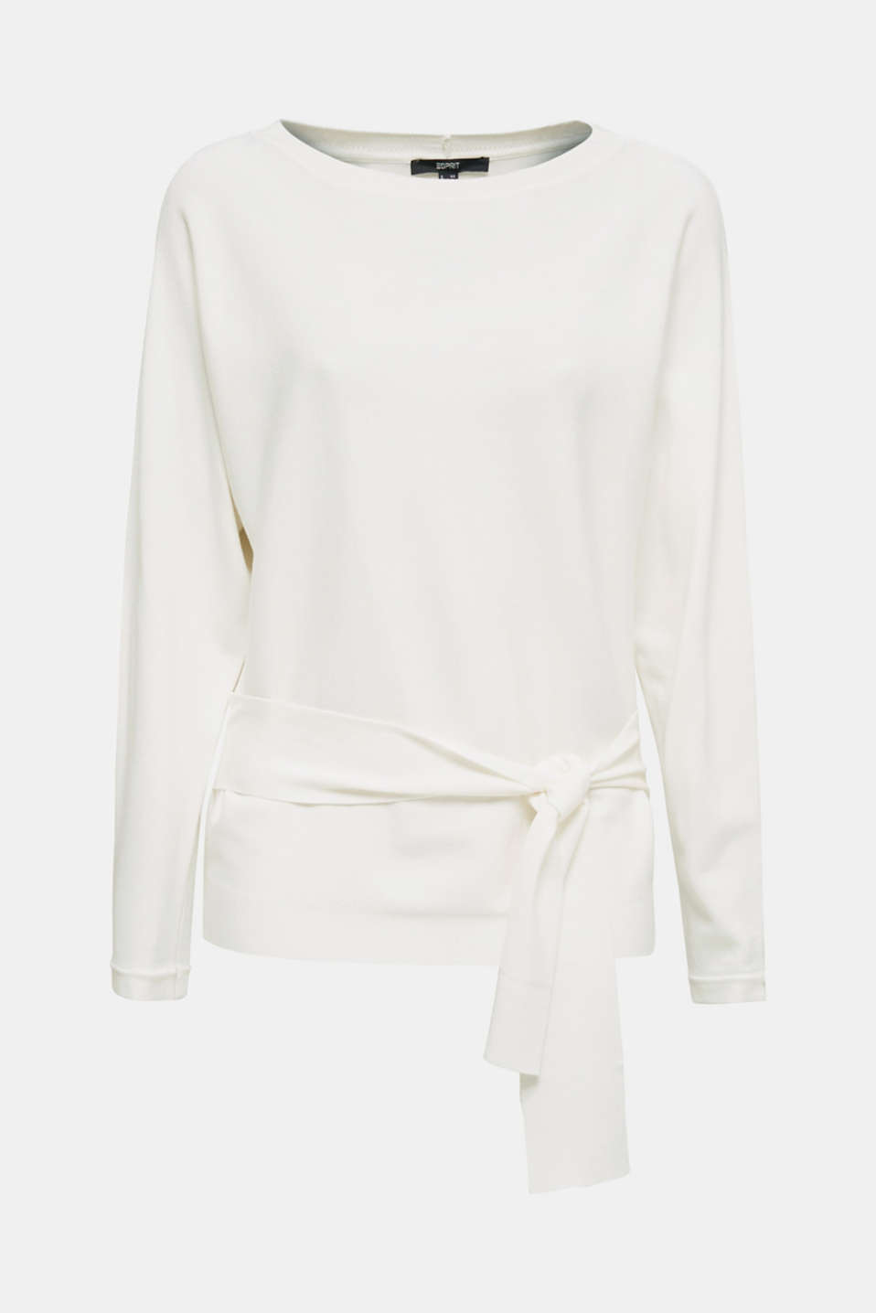 Jumper with tie-around belt, OFF WHITE, detail image number 8