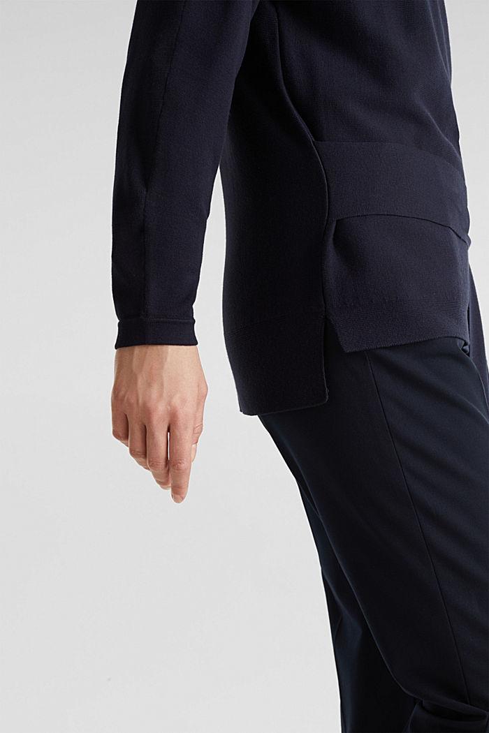 Jumper with tie-around belt, NAVY, detail image number 5