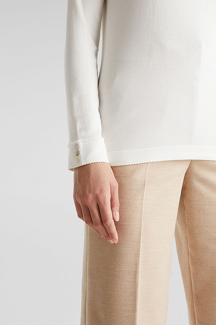 Jumper containing LENZING™ ECOVERO™, OFF WHITE, detail image number 3