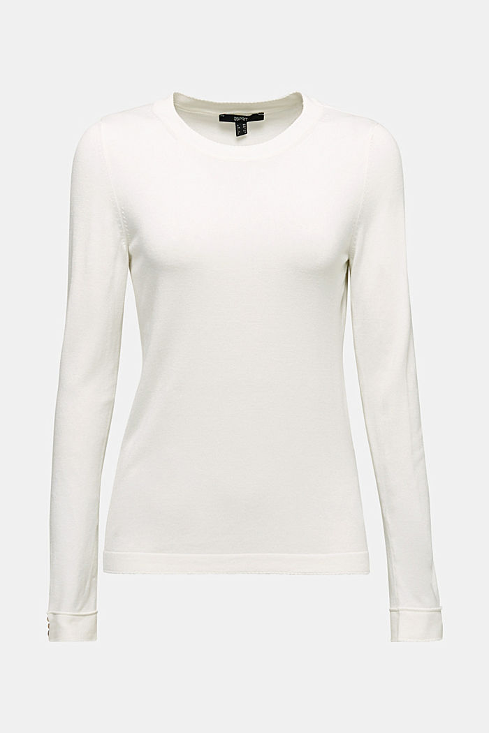 Jumper containing LENZING™ ECOVERO™, OFF WHITE, detail image number 5